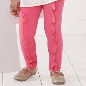 Pink Mud Pie Ruffled French Terry Legging 4T NWOT